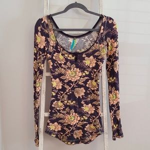 Free People Floral Cottage Snap Front Thermal